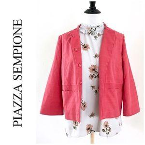NEW Piazza Sempione Coral Cotton Silk Light Jacket